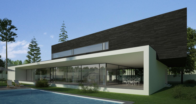 Locuinta Unifamiliala Moderna in Corbeanca, Ilfov | Concept Design finalizat casa moderna parter si etaj cod PMC in Corbeanca, Ilfov | Proiect din portofoliul CUB Architecture