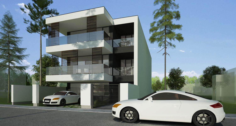 Imobil rezidential cu 6 apartamente de 2 si 3 camere in Bucuresti, Sect 1 |  Concept Design Finalizat bloc de locuinte modern cu 6 apartamente cod LRBG in Bucuresti, Sector 1 | Proiect din portofoliul CUB Architecture