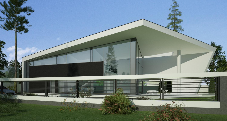 Locuinta Unifamiliala Minimalista pe malul lacului in Buftea, Ilfov | Concept Design finalizat casa moderna minimalista pe malul lacului, demisol, parter si etaj cod RKB in Buftea, Ilfov | Proiect din portofoliul CUB Architecture