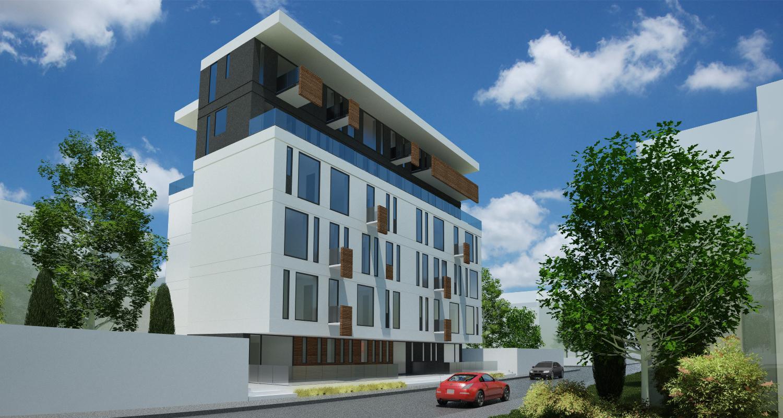 Imobil Mixt - Comercial si Rezidential cu parter comercial si 16 apartamente Bucuresti, S1 | Concept Design  Imobil Rezidential cu 16 apartamente si parter comercial cod VOLG, Bucuresti, S1 | proiect din portofoliul CUB Architecture