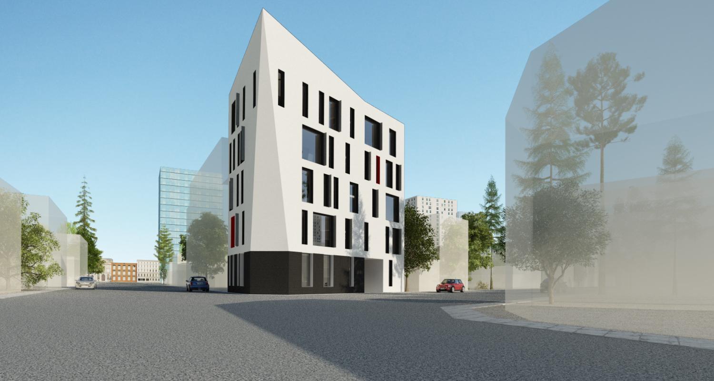 Proiect Insertie Imobil Hostel in tesut urban destructurat, Bucuresti, Sector 2 | Concept Design finalizat pentru Imobil tip Hostel in Bucuresti, Sector 2, cod HOST | Proiect dn portofoliul CUB Architecture