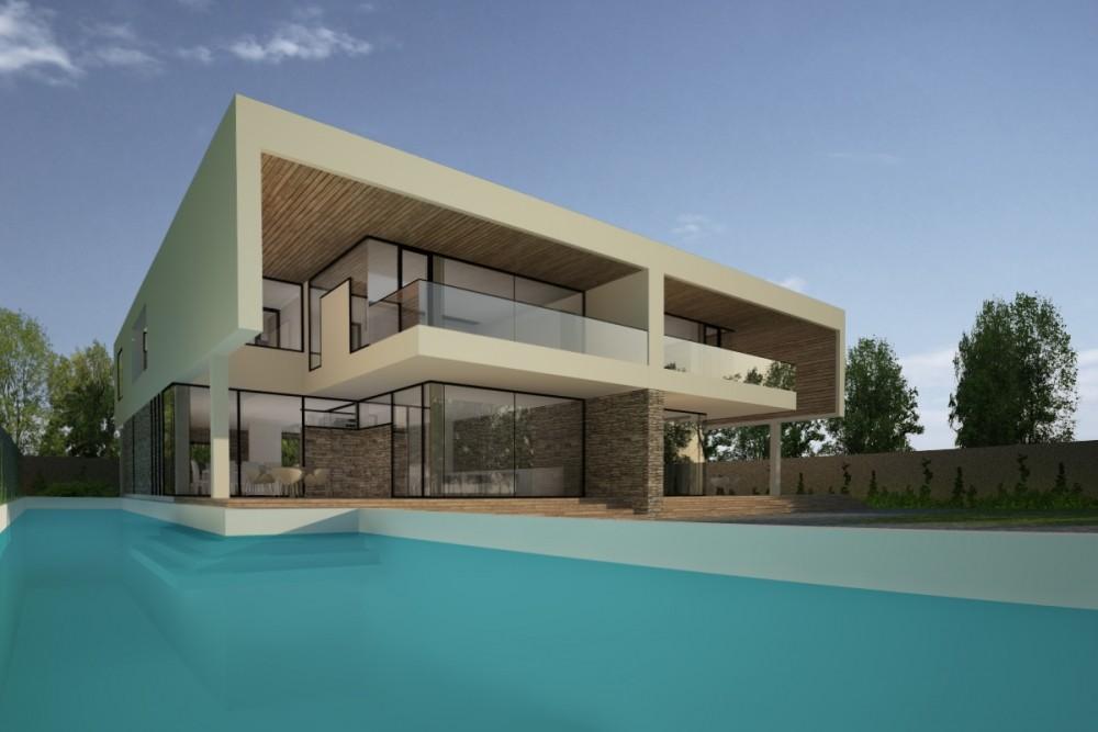 Proiect duplex modern proiectare finalizata casa moderna cod gdp in pantelimon ilfov for Casa cub moderne