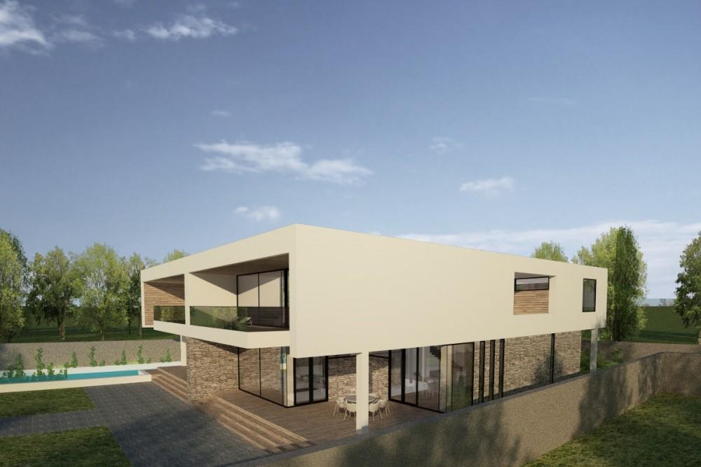 Proiect duplex modern proiectare finalizata casa moderna cod gdp in pantelimon ilfov - Casa cub moderne ...