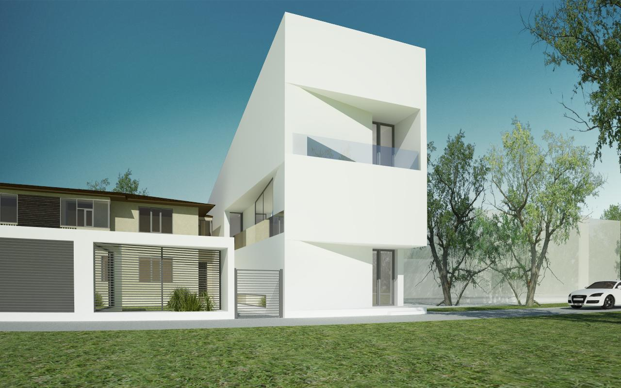 Modern house urban insertion in pitesti ag project from cub