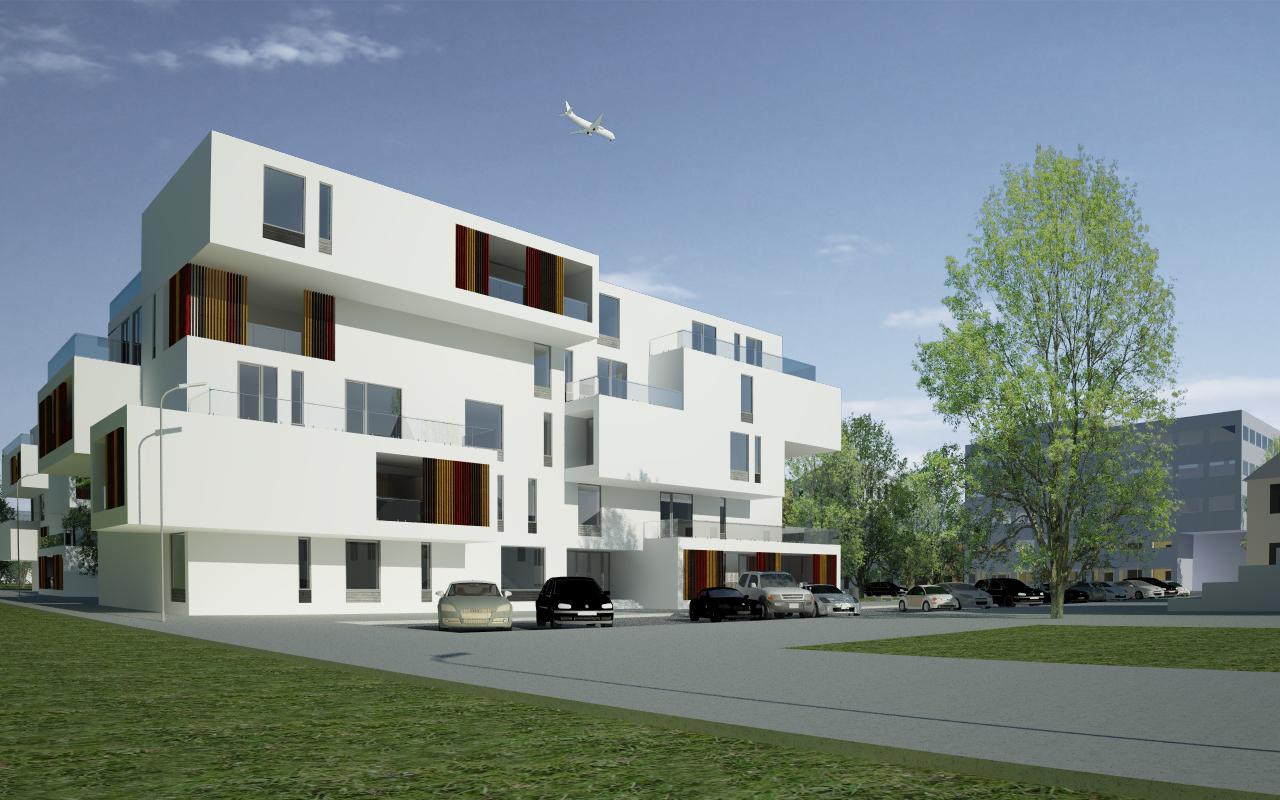 Proiect Ansamblu Rezidential cu 4 Unitati Locuinte Colective Otopeni bloc de locuinte modern cu 26 de apartamente cod DDUO in Otopeni IF