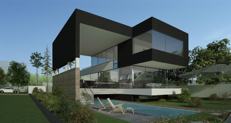 Proiect locuinta moderna concept design casa si piscina for Casa moderna romania