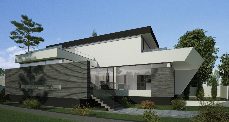 Proiect casa unifamiliala moderna proiectare finalizata for Casa moderna romania