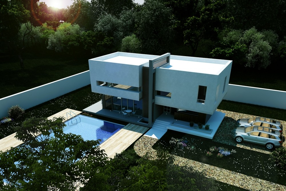 modern pool house in vaslui vs project from cub architecture portfolio - Casa Cub Moderne