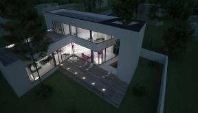 Proiect Locuinta Moderna cu Atrium | Concept Design casa moderna parter si etaj cod OTC in Corbeanca | Proiect din portofoliul CUB Architecture