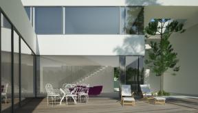 Proiect Locuinta Moderna cu Atrium | Concept Design finalizat casa moderna parter si etaj cod OTC in Corbeanca, If | Proiect din portofoliul CUB Architecture