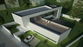 Proiect Locuinta Moderna cu Atrium | Concept Design finalizat casa moderna parter si etaj cod OTC in Corbeanca | Proiect din portofoliul CUB Architecture