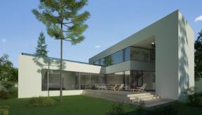 Proiect Locuinta Moderna cu Atrium Semideschis | Concept Design finalizat casa moderna parter si etaj cod OTC in Corbeanca, If | Proiect din portofoliul CUB Architecture