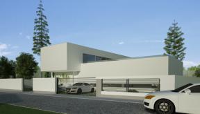 Proiect Locuinta Moderna cu Atrium Semideschis | Concept Design finalizat casa moderna parter si etaj cod OTC in Corbeanca, Ilfov | Proiect din portofoliul CUB Architecture