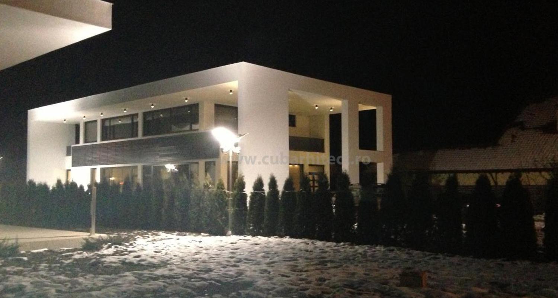 Ansamblu Locuinte Moderne finalizate in Pitesti, Arges | Lucrare finalizata case moderne cod LPP Fin Pitesti, Arges | proiect din portofoliul CUB Architecture - imagine de noapte 2