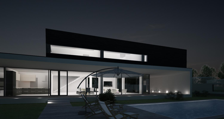 Locuinta Unifamiliala Moderna in Corbeanca, If | Concept Design casa moderna parter si etaj cod PMC in Corbeanca, Paradisul Verde | Proiect din portofoliul CUB Architecture