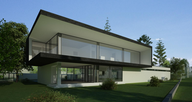 Locuinta Unifamiliala Moderna in Corbeanca, If | Concept Design finalizat casa moderna parter si etaj cod PMC in Corbeanca, If | Proiect din portofoliul CUB Architecture