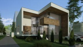 Locuinta Unifamiliala Moderna in Bucuresti, Sect 1 | Concept Design finalizat casa moderna demisol, parter si etaj cod NCB in Bucuresti, S1 | Proiect din portofoliul CUB Architecture