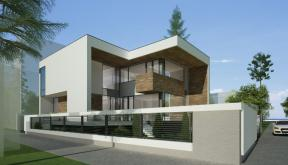 Locuinta Unifamiliala Moderna in Bucuresti, Sectorul 1 | Concept Design finalizat casa moderna demisol, parter si etaj cod NCB in Bucuresti, Sect 1 | Proiect din portofoliul CUB Architecture