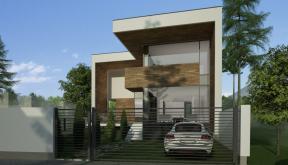 Locuinta Unifamiliala Moderna in Bucuresti, Sectorul 1 | Concept Design finalizat casa moderna demisol, parter si etaj cod NCB in Bucuresti, Sectorul 1 | Proiect din portofoliul CUB Architecture