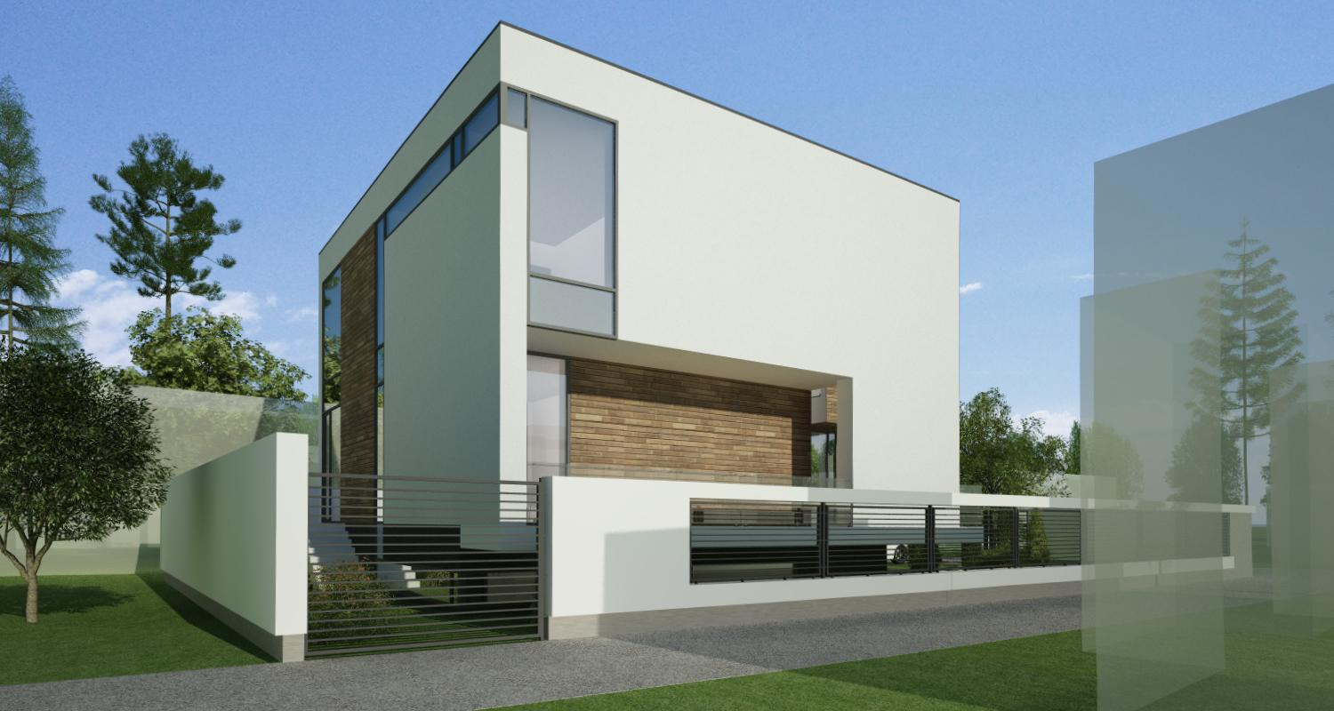 single family modern house in bucharest sector 1 project from cub architecture portfolio - Casa Cub Moderne