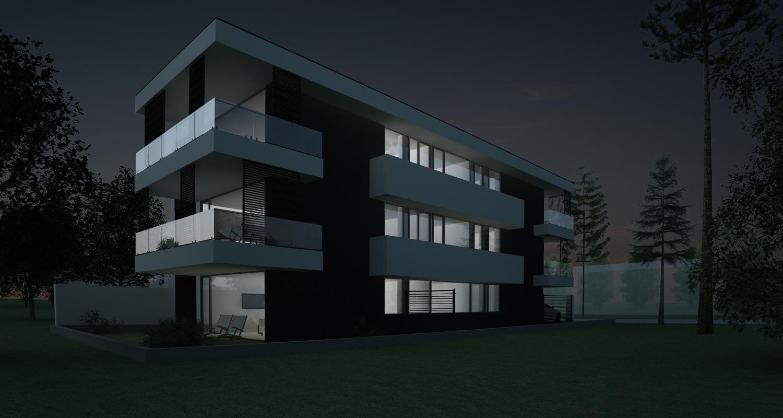 Imobil rezidential cu 6 apartamente de 2 si 3 camere in Bucuresti, S1 |  Concept Design Finalizat bloc de locuinte modern cu 6 apartamente cod LRBG in Bucuresti, S1 | Proiect din portofoliul CUB Architecture