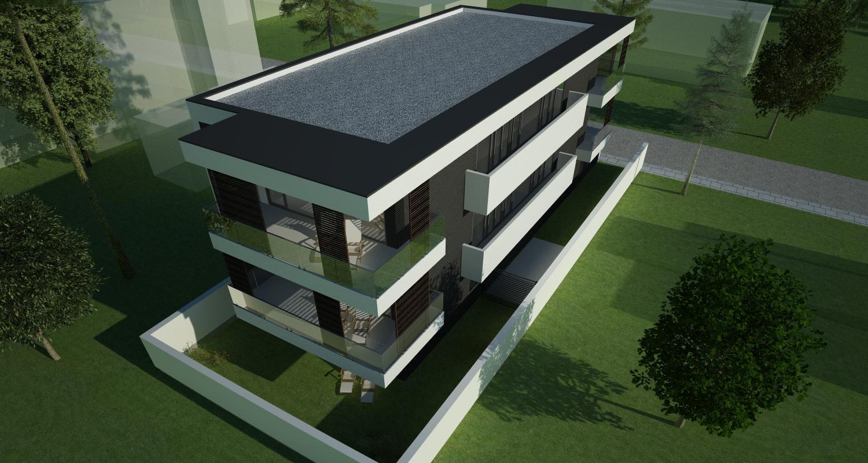 Imobil rezidential cu 6 apartamente de 2 si 3 camere in Bucuresti, Sect 1 |  Concept Design Finalizat bloc de locuinte modern cu 6 apartamente cod LRBG in Bucuresti, Sect 1 | Proiect din portofoliul CUB Architecture