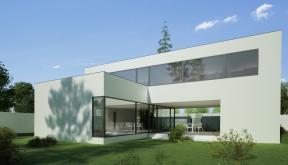 Locuinta Unifamiliala Minimalista in Bucuresti, Sect. 1 | Concept Design finalizat casa moderna minimalista, parter si etaj cod NFB in Bucuresti, S 1 | Proiect din portofoliul CUB Architecture
