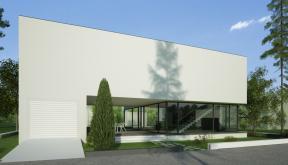 Locuinta Unifamiliala Minimalista in Bucuresti, Sectorul 1 | Concept Design finalizat casa moderna minimalista, parter si etaj cod NFB in Bucuresti, Sect. 1 | Proiect din portofoliul CUB Architecture