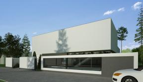 Locuinta Unifamiliala Minimalista in Bucuresti, Sectorul 1 | Concept Design finalizat casa moderna minimalista, parter si etaj cod NFB in Bucuresti, Sectorul 1 | Proiect din portofoliul CUB Architecture