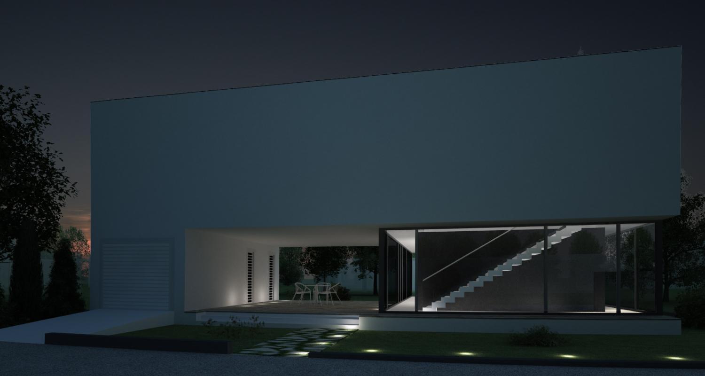 Locuinta Unifamiliala Minimalista in Bucuresti, S 1 | Concept Design finalizat casa moderna minimalista, parter si etaj cod NFB in Bucuresti, S 1 | Proiect din portofoliul CUB Architecture