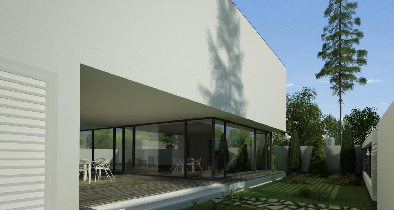 Locuinta Unifamiliala Minimalista in Bucuresti, Sectorul 1 | Concept Design finalizat casa moderna minimalista, parter si etaj cod NFB in Bucuresti, S 1 | Proiect din portofoliul CUB Architecture