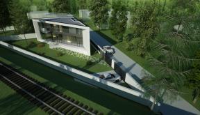 Locuinta Moderna Parter si etaj | Concept Design casa parter si etaj pe teren triunghiular cod MIN, Mogosoaia, if