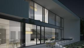 Locuinta Moderna Parter si etaj | Concept Design casa pe teren triunghiular cod MIN, Mogosoaia, if