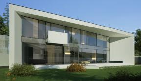 Proiect Locuinta Moderna Parter si etaj | Concept Design casa parter pe teren triunghiular cod MIN, Mogosoaia, if
