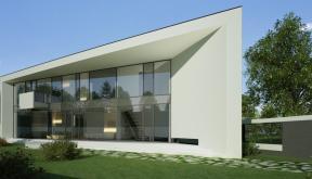 Proiect Locuinta Moderna Parter si etaj | Concept Design casa parter pe teren triunghiular cod MIN, Mogosoaia, Ilfov