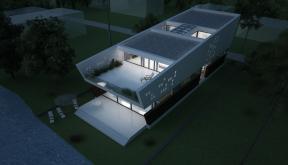 Locuinta Moderna pe malul lacului | Concept Design finalizat casa pe malul lacului si piscina | cod LTO in Ovidiu, CT | proiect din portofoliul CUB Architecture