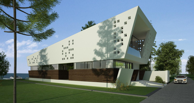 Locuinta Moderna pe malul lacului, CT | Concept Design finalizat casa moderna pe malul lacului si piscina | cod LTO in Ovidiu, CT | proiect din portofoliul CUB Architecture