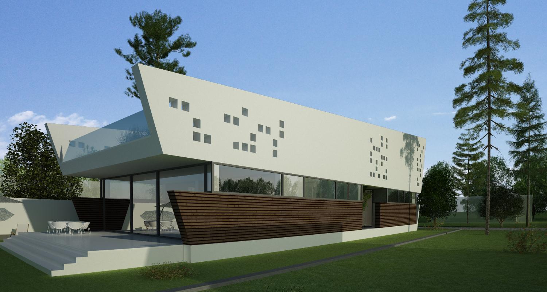 Locuinta Moderna pe malul lacului, CT | Concept Design finalizat casa pe malul lacului si piscina | cod LTO in Ovidiu, CT | proiect din portofoliul CUB Architecture
