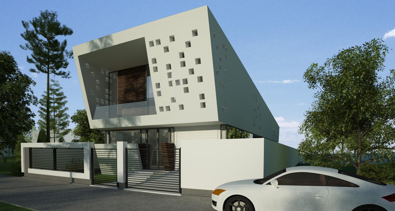 Locuinta Moderna pe malul lacului, Ovidiu, CT | Concept Design finalizat casa moderna pe malul lacului si piscina | cod LTO in Ovidiu, CT | proiect din portofoliul CUB Architecture