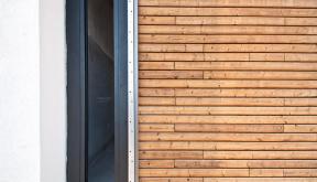 Locuinte moderne | Lucrare in curs de finalizare casa moderna cod GCG-Fin Galati, zona Metro | portofoliul CUB Architecture | Detaliu fatada