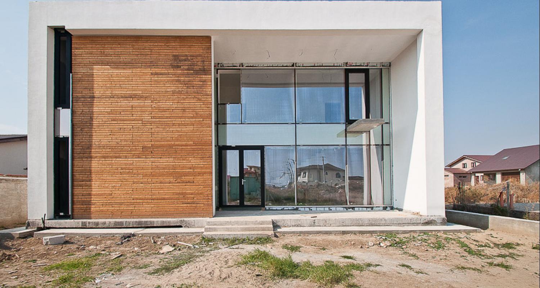 locuinte moderne lucrare finalizata casa moderna cod gcg fin galati gl zona - Casa Cub Moderne