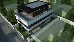 Locuinta Unifamiliala Minimalista in Bucuresti, Sectorul 5 | Concept Design finalizat locuinta unifamiliala moderna minimalista, parter si doua etaje cod NGG in Bucuresti, Sectorul 5 | Proiect din portofoliul CUB Architecture