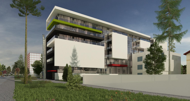 Proiect Imobil Multifunctional Galati | Concept Design finalizat Insertie Imobil Multifunctional in GL cod IMGR | proiect din portofoliul CUB Architecture | office, restaurant, conferinte, piscina, spa, apartamente, spatii comerciale, hotel