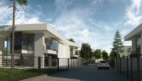 Ansamblu Rezidential cu 8 Locuinte Buftea | Concept Design finalizat pentru ansamblu cu 8 locuinte moderne cu 4 cuplate si 4 independente cod RKBI in Buftea | Proiect din portofoliul CUB Architecture