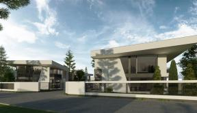 Ansamblu Rezidential cu 8 Locuinte Buftea | Concept Design finalizat pentru ansamblu cu 8 locuinte moderne cu 4 cuplate si 4 independente din care 2 cu deschidere spre lac cod RKBI in Buftea | Proiect din portofoliul CUB Architecture
