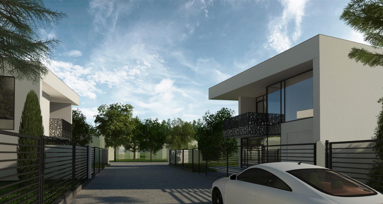 Ansamblu Rezidential cu 8 Locuinte Buftea | Concept Design finalizat pentru ansamblu cu 8 locuinte moderne 4 cuplate si 4 independente cod RKBI in Buftea | Proiect din portofoliul CUB Architecture