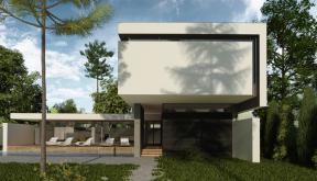 Locuinta Unifamiliala Minimalista in Mamaia, Constanta | Concept Design finalizat casa moderna minimalista, parter si etaj, cu piscina integrata, cod RIM in Mamaia Sat, Constanta | Proiect din portofoliul CUB Architecture