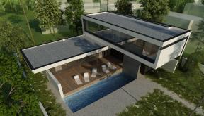 Locuinta Unifamiliala Minimalista in Mamaia, CT | Concept Design finalizat casa moderna minimalista, parter si etaj, cu piscina integrata, cod RIM in Mamaia Sat, Constanta | Proiect din portofoliul CUB Architecture