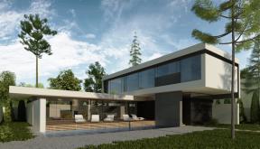 Locuinta Unifamiliala Minimalista in Mamaia Sat, Constanta | Concept Design finalizat casa moderna minimalista, parter si etaj, cu piscina integrata, cod RIM in Mamaia, Constanta | Proiect din portofoliul CUB Architecture