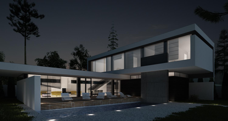 Locuinta Unifamiliala Minimalista in Mamaia, CT | Concept Design finalizat casa moderna minimalista, parter si etaj, cu piscina integrata, cod RIM in Mamaia Sat, CT | Proiect din portofoliul CUB Architecture